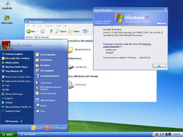 Il desktop di Windows XP Media Center Edition