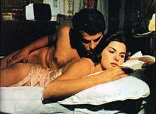 Placido e la sua prima moglie Simonetta Stefanelli in Peccati in famiglia (1975)