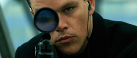 Jason Bourne in una scena del film