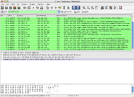 Screenshot di Wireshark
