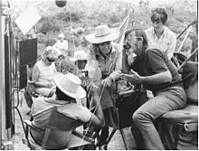 Gillo Pontecorvo sul set di Queimada (1969)