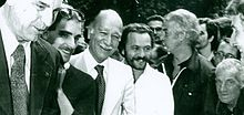 Buontempo con Giorgio Almirante