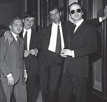 Gino Paoli con Bruno Lauzi, Vanis Rebecchi e Sergio Endrigo.