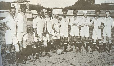 Una formazione della Lazio 1921-22.