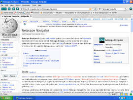 Screenshot di Netscape Navigator