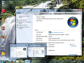 Screenshot di Windows Aero