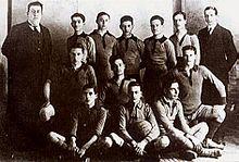La Fortitudo nel 1918, prima della fusione con la Società Sportiva Pro Roma