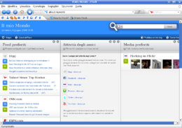 Screenshot di Flock 1.2.1 su Kubuntu