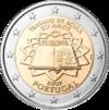2 euro commemorativo Portogallo Trattati di Roma 2007.png