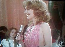 Loretta Goggi nel 1981 durante Hello Goggi