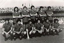 Una formazione rossoverde della stagione 1979-1980, retrocessa in C1 ma semifinalista di Coppa Italia.
