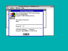 Schermata di Windows NT 3.5