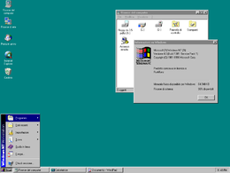 Il desktop di Windows NT 4.0 Workstation