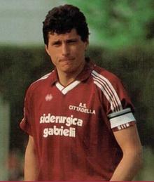 Giancarlo Pasinato con la maglia del Cittadella.