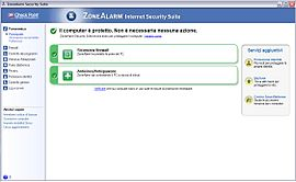 Screenshot di ZoneAlarm (software)