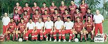 La Reggiana prima classificata nella Serie B 1992-1993, e di nuovo in massima serie a 64 anni dalla precedente apparizione.