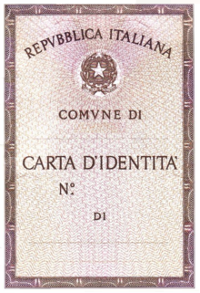 Carta d\'identità italiana (cartacea) - Wikipedia