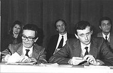 Piero Fassino con Enrico Berlinguer ai tempi del PCI