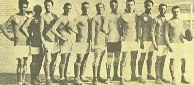 Una formazione della Lazio 1914-15.