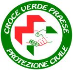 Il logo della Pubblica Assistenza, con le mani giunte volte a indicare i valori di solidarietà, collaborazione e tolleranza caratterizzanti l'attività dell'associazione