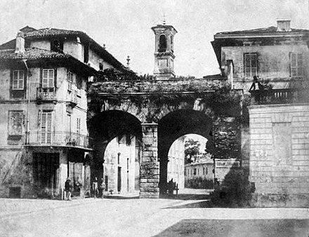 Porta nuova medievale in una foto del 1850 - Amazon porta nuova ...