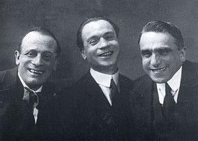 Leopoldo Fregoli, Luigi Chiarelli e Antonio Gandusio nel 1930