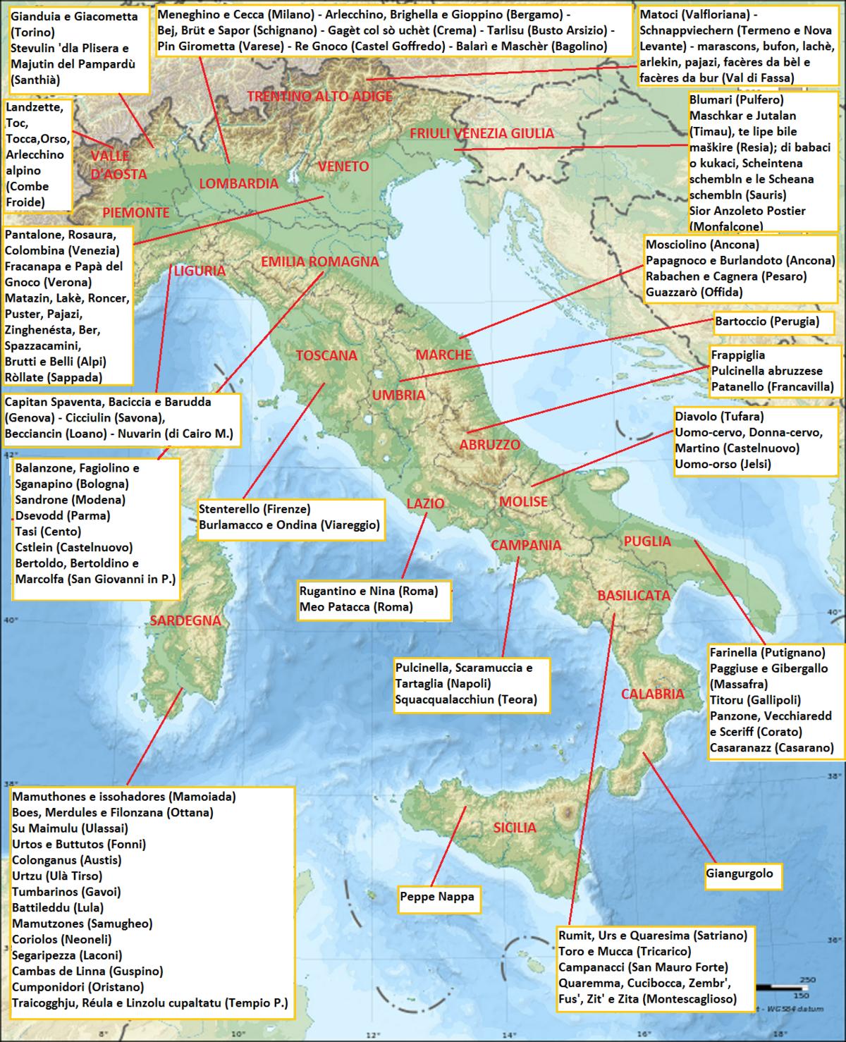 Maschere Regionali Italiane Wikipedia