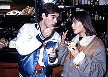 Pierre Cosso e Sophie Marceau a Roma nel dicembre 1982, per la promozione de Il tempo delle mele 2.