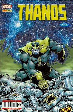 Thanos disegnato da Jim Starlin
