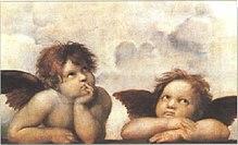 Due cherubini in un celebre dipinto di Raffaello
