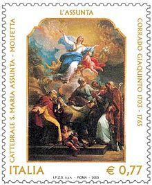 Francobollo emesso nel 2003 per celebrare il III centenario della nascita