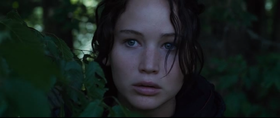 Jennifer Lawrence nella versione cinematografica di Hunger Games