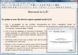 Screenshot di LyX 2.0.1 su Windows Vista