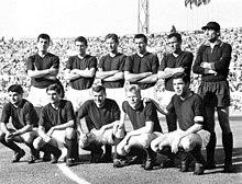 La formazione del Bologna uscito vittorioso dall'incontro di spareggio per il titolo con l'Inter del 7 giugno 1964: Fogli è il secondo in piedi da sinistra.