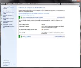 Screenshot di Windows Firewall