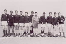 Formazione dell'Olimpia Cittadella nella stagione 1949-1950.