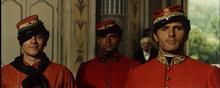 Giuliano Gemma, a destra, con Alain Delon e Terence Hill nel film Il Gattopardo (1963)