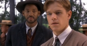 Will Smith e Matt Damon in una scena del film