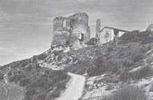 I resti della prima rocca appartenuta agli Alidosi.