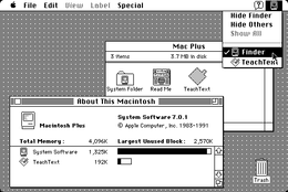 Screenshot del System 7.0.1