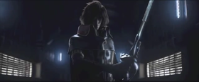 Capitan Harlock in una scena dell'omonimo film