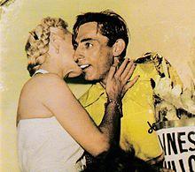 Fausto Coppi in maglia gialla nel 1952