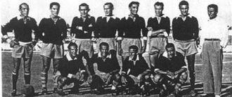Una formazione dello Stabia giunta capolista nel girone D della Serie C 1950-1951.