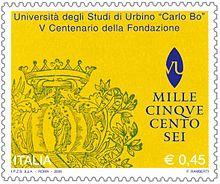 Francobollo emesso nel 2006 per celebrare il cinquecentenario della fondazione