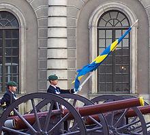 Cambio della guardia al palazzo reale svedese