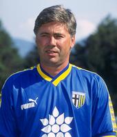 Ancelotti al Parma nella stagione 1996-1997.