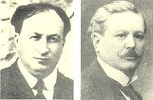 I due fondatori della Gazzetta dello Sport: il torinese Eugenio Camillo Costamagna (1864-1918, a sinistra) e l'alessandrino Eliso Rivera (1865-1936, a destra).