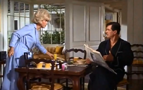Doris Day e Rock Hudson in una scena del film