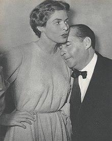 Roberto Rossellini e la moglie.