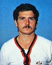 Franco Selvaggi. Campione del mondo 1982, presidente del Foot Ball Club Matera nel 1987, e già calciatore in gioventù nella Gianni Rivera Matera, poi Pro Matera.